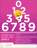Grade 4 Number Sense & Place Value Workbook: Making Math Visual