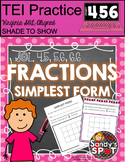 TEI Technology Enhanced Item Grades 4-6 Fractions in Simplest Form Virginia SOL