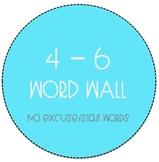 Grades 4-6 Word Wall - No Excuse Word Bundle (Editable)