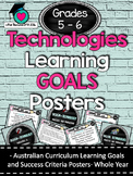 Grades 5 - 6  All Technologies  Learning Goals/success criteria posters. AC
