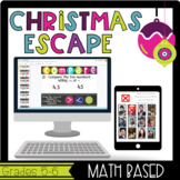 Grades 5&6 Christmas Escape Room-Math Based, Team Building, Review Game