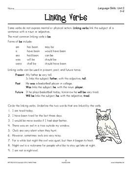 Grades 5-6 Language Arts Unit 3: Verbs