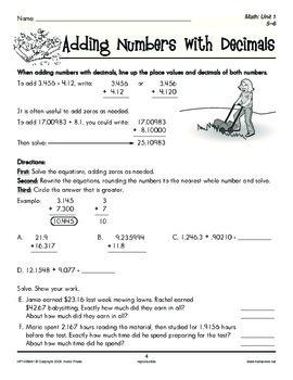 Grades 5-6 Math Unit 1: Decimals