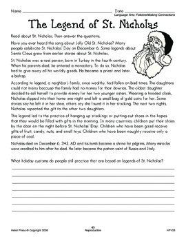 Grades 5-6 We Love Holidays! December Monthly Unit