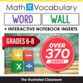 Grades 5-8 Math Word Wall & Interactive Notebook Inserts