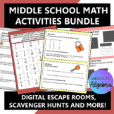 Middle School Math Activities Bundle