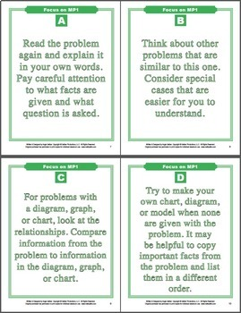 Grades 6-8 Focus on the Mathematical Practices (MP1-MP8)