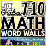 Grades 7-10 Math Word Wall Bundle