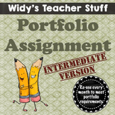 Grades 6, 7 & 8 Monthly Portfolio - Assignment & Rubric For Conferences