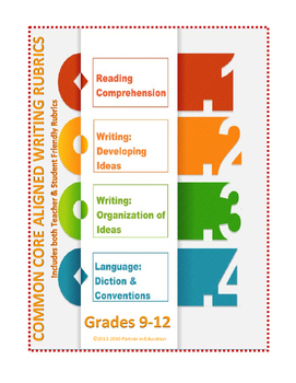 Grades 9-12: Bundled Teacher Friendly Common Core Aligned Writing Rubrics