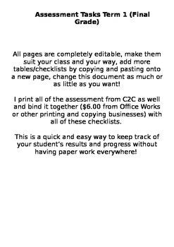Grades & Assessment Checklist
