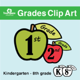 Grades Clip Art Apples Red and Green