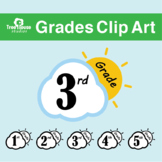 Grades Clips Art Suns and Clouds