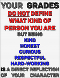 Grades Don't Define You! (Printable motivational poster fo