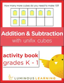 Grades K - 1 Addition and Subtraction with Unifix Cubes: Activity Book BUNDLE