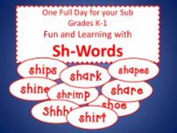 Sh-Words - Common Core Aligned Full Day For Your Sub