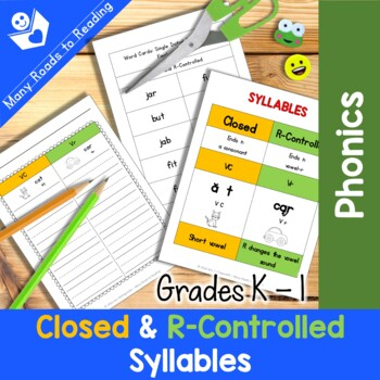 Grades K-1 Syllable Sort: Closed and R-Controlled Syllables