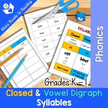 Closed & Vowel Vowel Syllable Sort Grades K-1