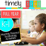 Grades K-1 Timely Tech Full Year Monthly Themed Computer Lab Activities