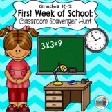Grades K-2 Back to School: Classroom Scavenger Hunt (Differentiated)