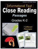 (Grades K-2) Informational Text Close Reading Passages