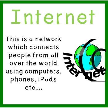 Grades K-2: Internet Safety Vocabulary Posters – Common Sense Media Aligned