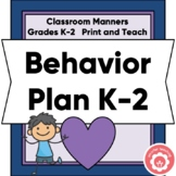 Behavior Plan Grades K-2