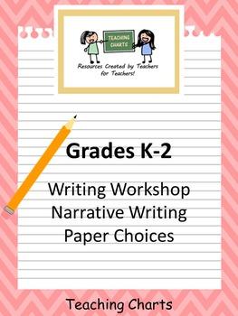 Grades K-2 Narrative Writing Paper for Writing Workshop (L