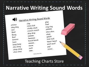 Grades K-2 Narrative Writing Sound Words Chart
