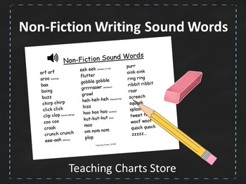 Grades K-2 Non-Fiction Writing Sound Words Chart