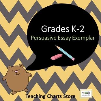 Grades K-2 Persuasive Essay Writing Exemplars (Lucy Calkins Inspired)