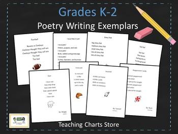 Grades K-2 Poetry Writing Exemplars (Lucy Calkins Inspired)