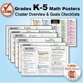 Grades K-5 Math Posters: CCSS Cluster Overview & Goals Checklists