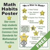 Grades K-5 FREE Math Habits Poster: 8 Icons for Mathematical Practice