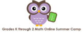 Grades K through 2 Math Online Camps