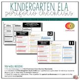 Grade Kindergarten ELA Portfolio Checklists ~ CCSS Overview & Checklists