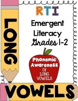 First Grade RTI - Phonemic awareness of long vowels