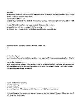 Grades Spreadsheet Common Core 3rd Grade Standards