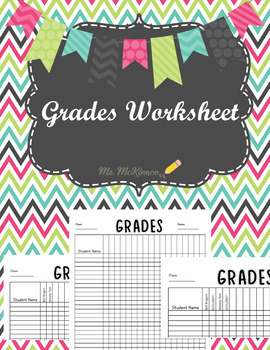 Grades Worksheet