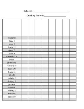 Gradesheet EDITABLE