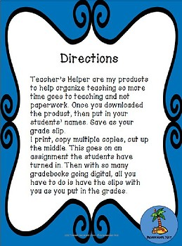 Gradeslips - Tools for Teaching