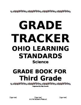 GradetTracker - Ohio Learning Standards 3rd Grade Science