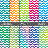 Gradient Chevron Pattern Digital Paper Pack
