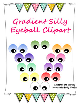 Gradient Color Silly Eyeball Clipart