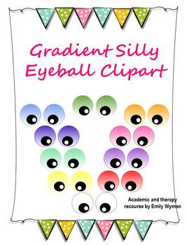 Gradient Color Google Eyeball Clipart
