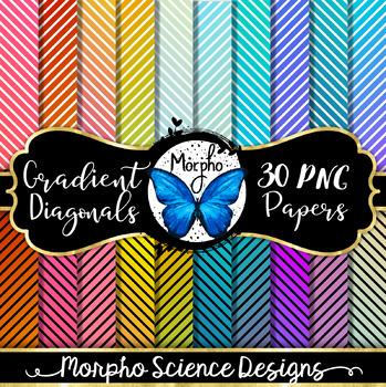 Gradient Diagonals - Digital Paper - FREE DOWNLOAD!