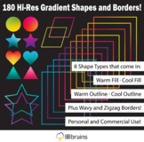 Gradient Shapes and Borders Vol. 1 | Seller Toolkit | Products for Sellers