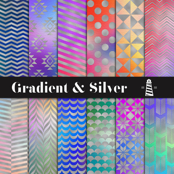 Gradient & Silver Digital Paper