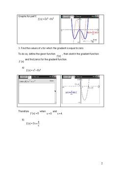 Gradient graphs.