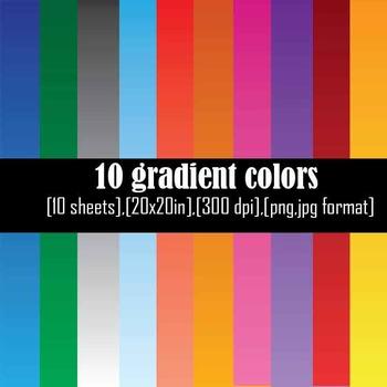Gradients backgrounds Set Clipart Digital Clip Art Graphics 10 images cod5